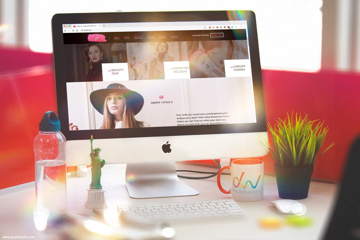Website design for fashion company www.istyleu.at