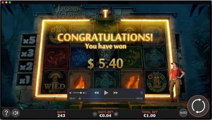 Motion design for Legend of the Jaguar video slot game