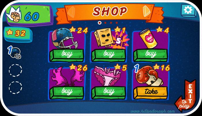 Gameplay screenshot from game Hit and crash. Art and programming by Pavel Guzenko.