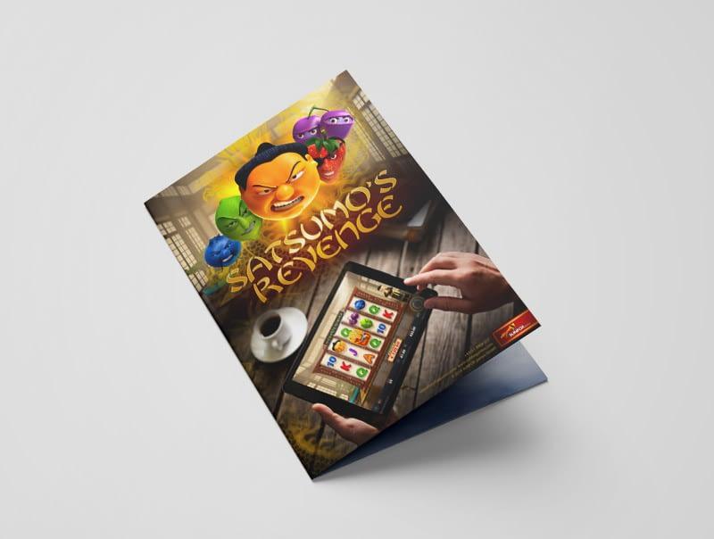 Leaflet design for video slot game