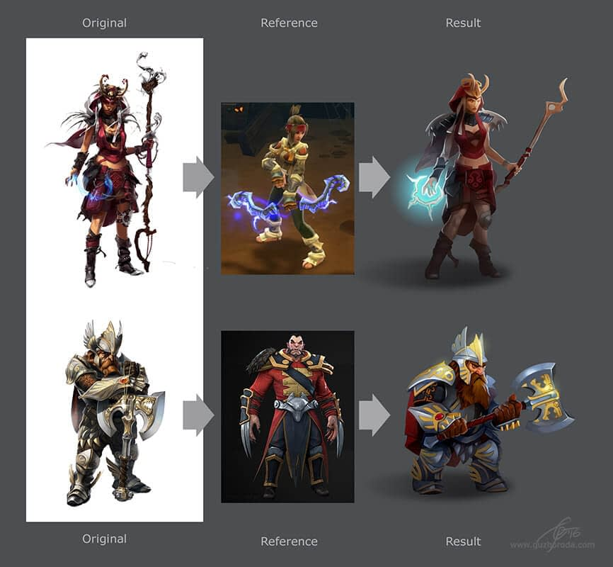 Character redesign for a mobile game