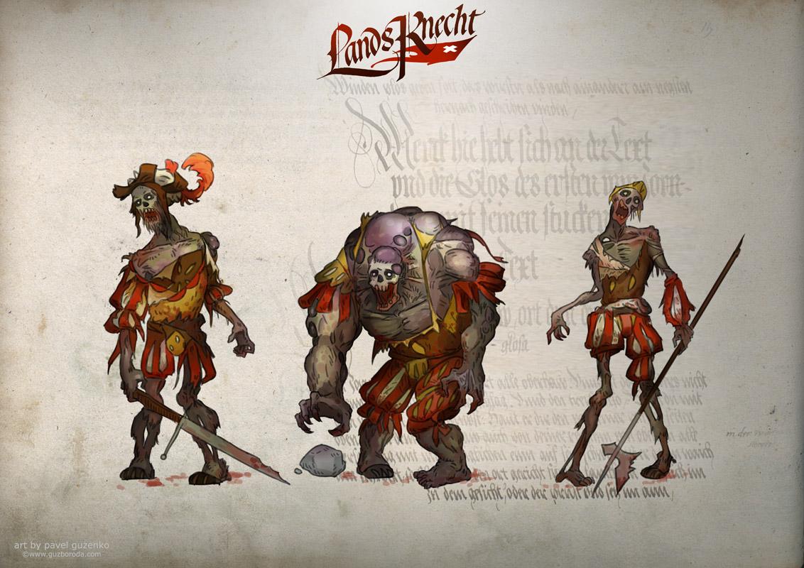 Character design for LandsKnecht.