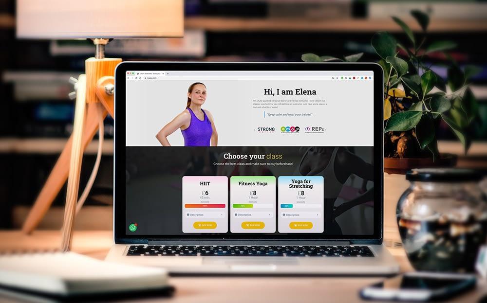 Website for Fitness Classes