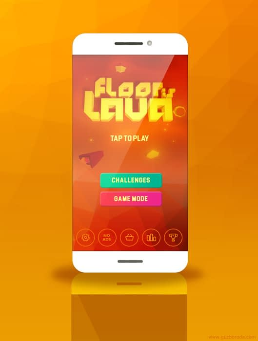 UI design for a casual mobile game