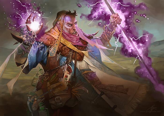 Steppe Wizard for Berserk CCG. © 2012 Fantasy World, Inc