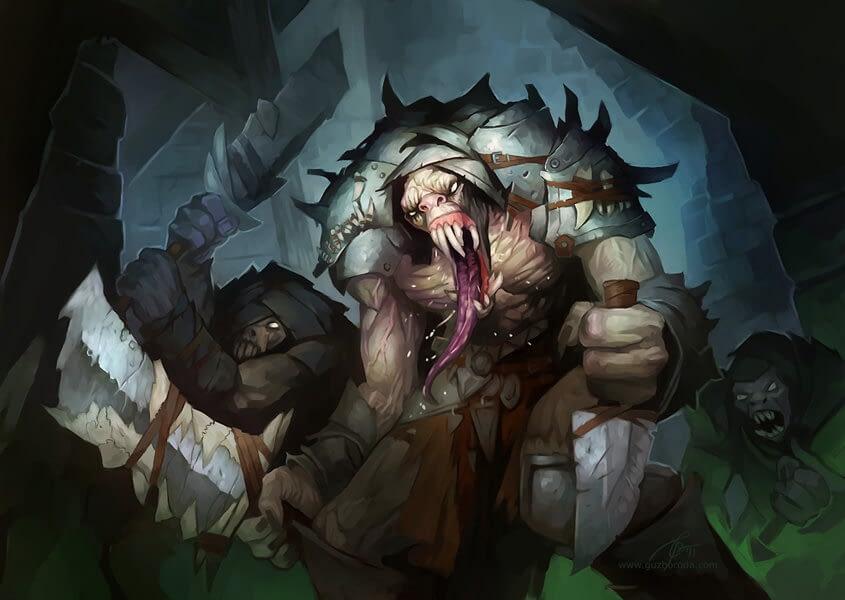 Molerat for Berserk CCG. © 2011 Fantasy World, Inc