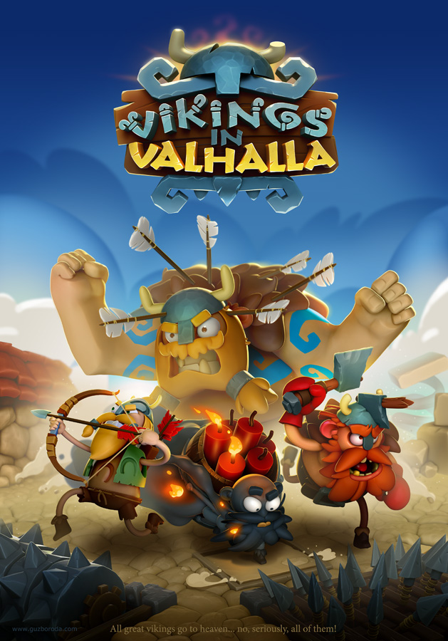 The key-art for Vikings in Valhalla