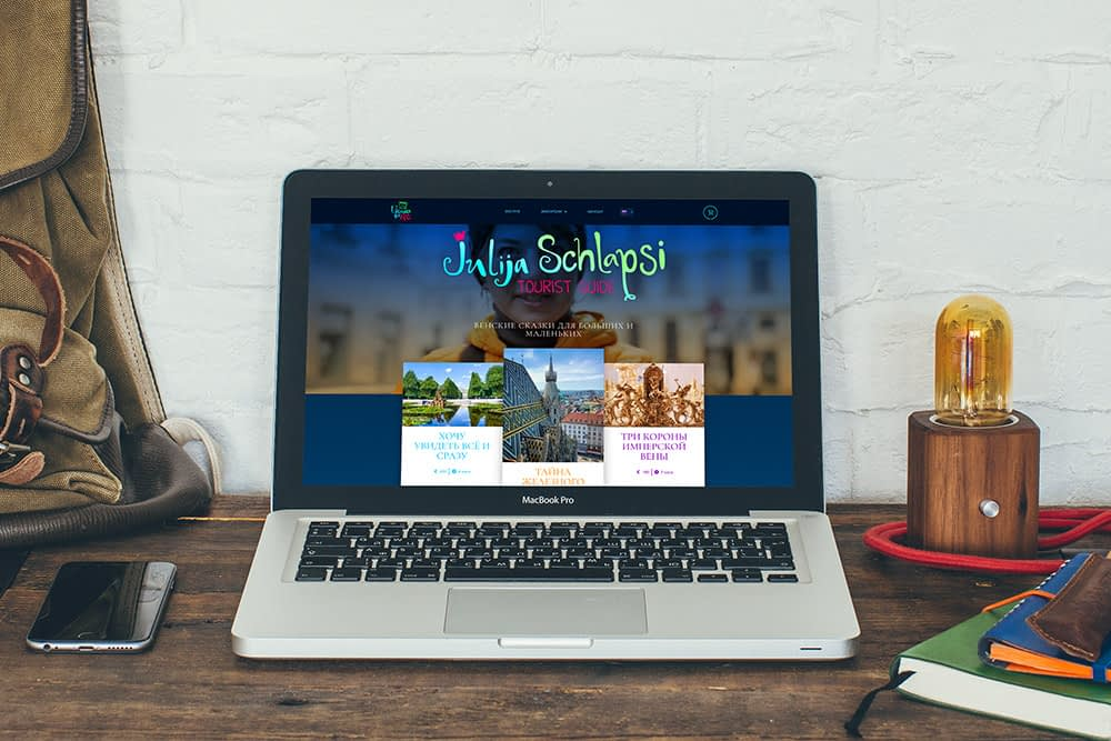Website for for a guide Julija Schlapsi in Vienna