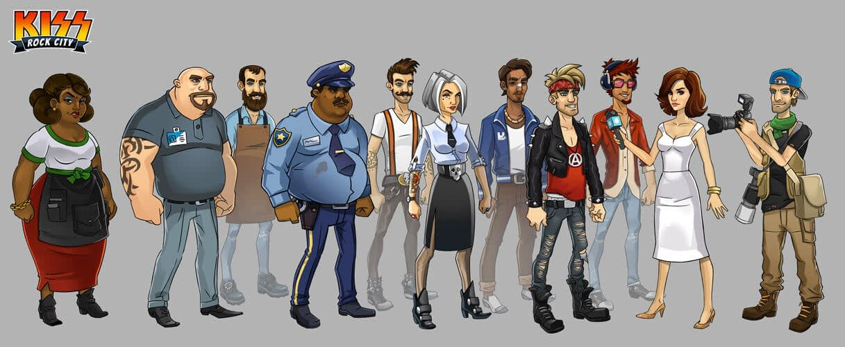 Character design for KISS Rock City