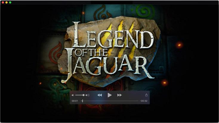 Logo design and motion design for Legend of the Jaguar video slot game