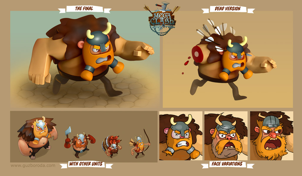 Character design for a mobile game