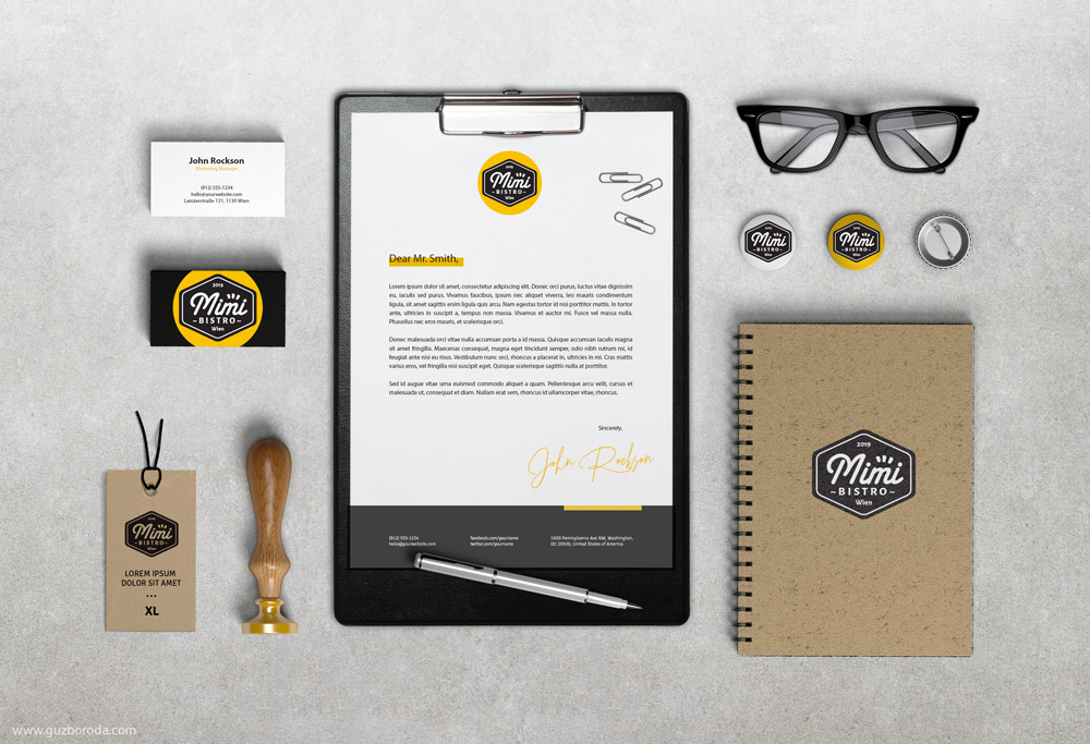 The corporate style for Cafe/Bistro Mimi