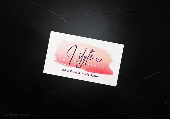 Business card design for i_style_u