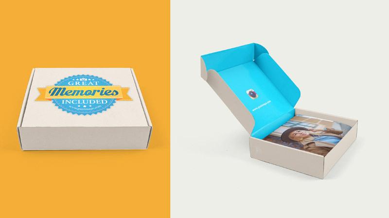 Design of the box for photos