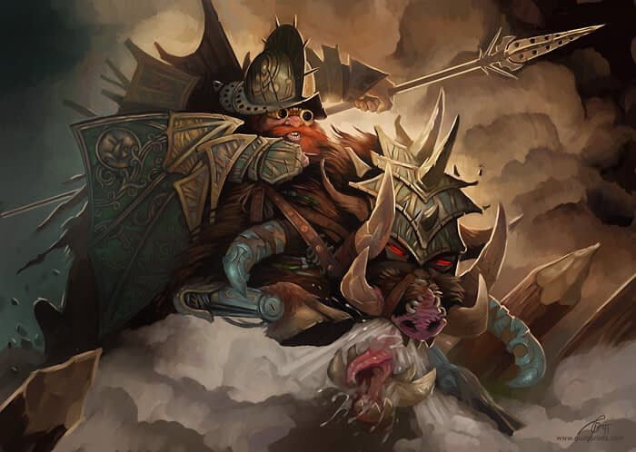 Dwarf Rider for Berserk CCG. © 2011 Fantasy World, Inc