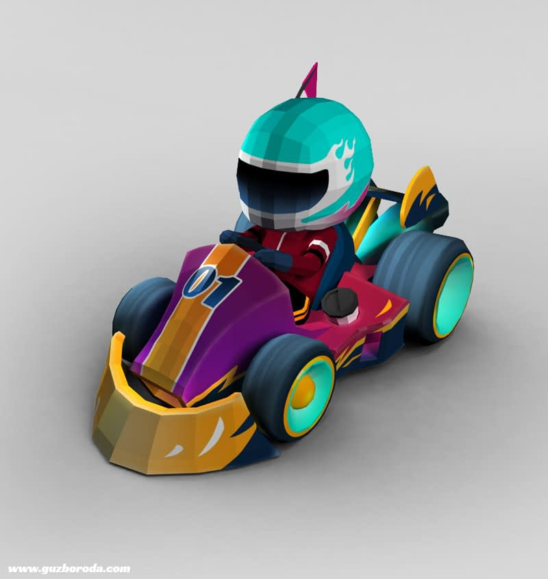 3D model for a kart racing game