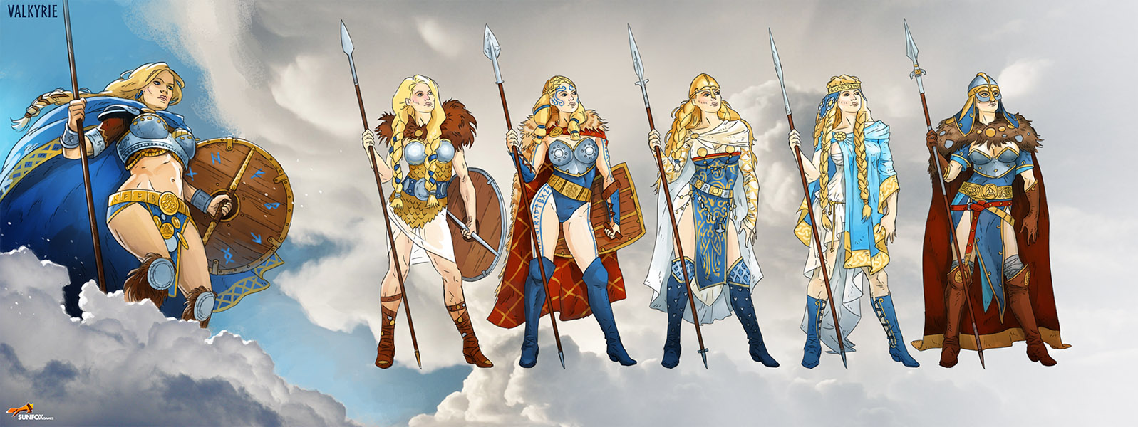Character design for Call of the Valkyries video slot game