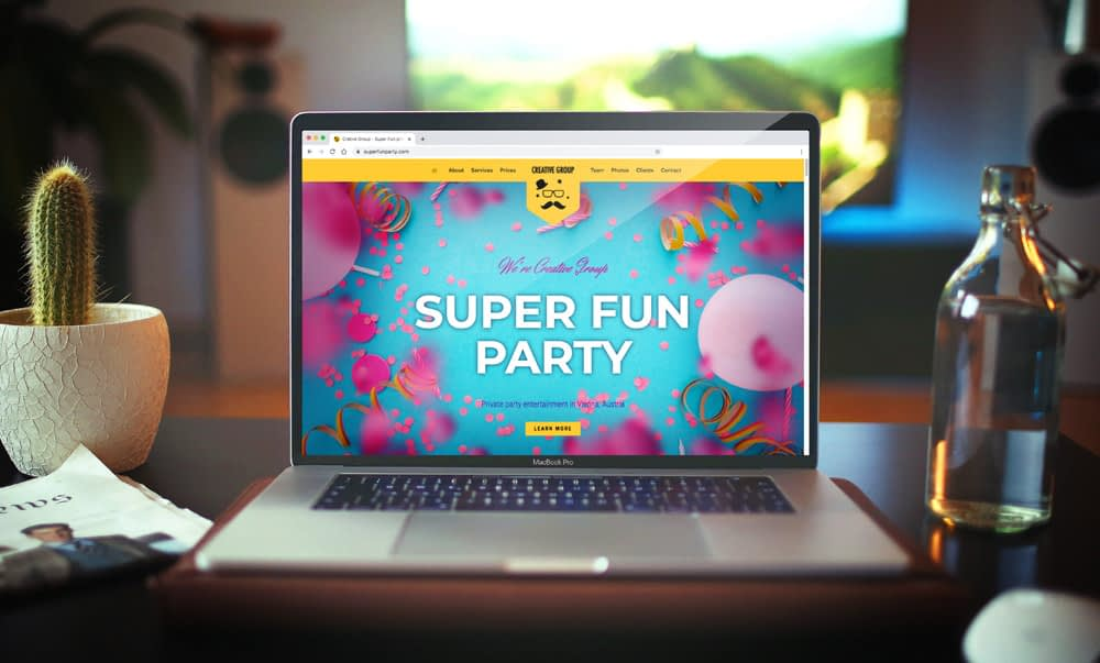 Website for Entertainment Agency Creative Group