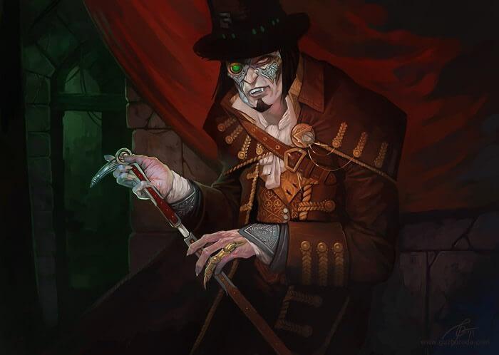 Steel Vampire for Berserk CCG. © 2011 Fantasy World, Inc
