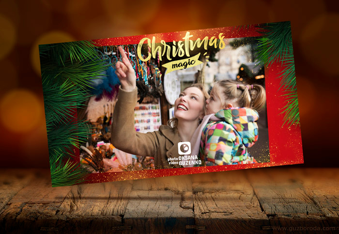 Christmas postcard design for www.guzimage.com