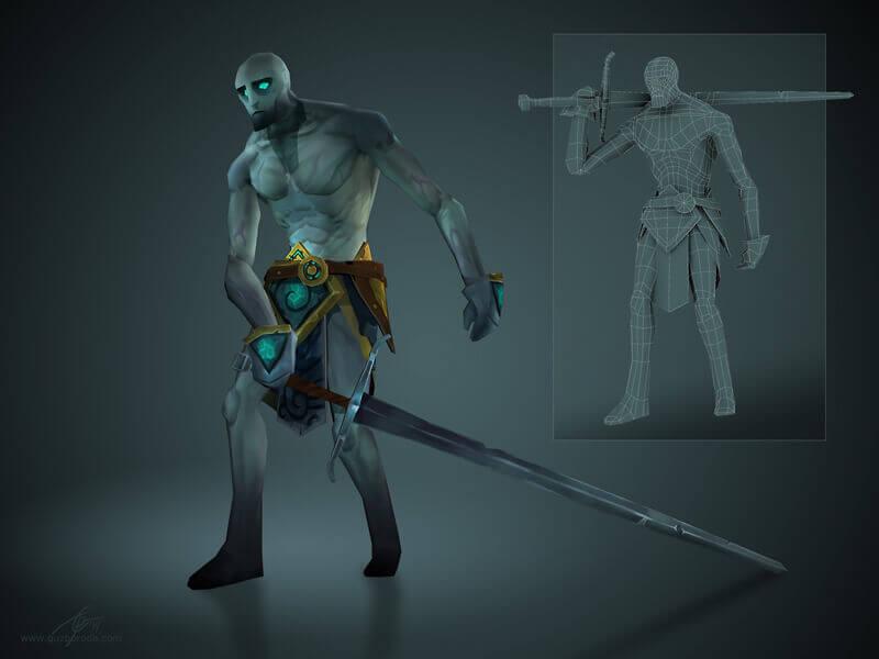 Lowpoly model of Pale Man.