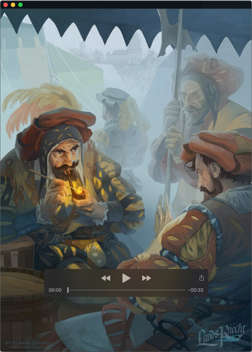Test animation of the illustration by Pavel Guzenko