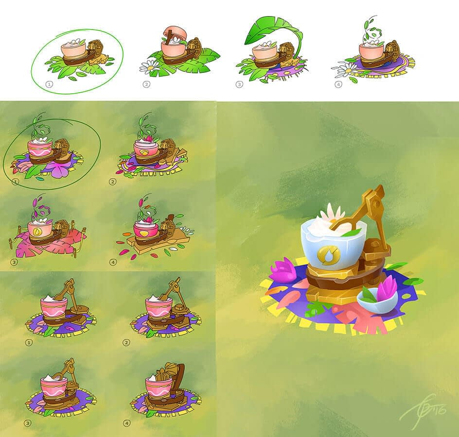 Concept art for mobile game Angry Birds Holiday