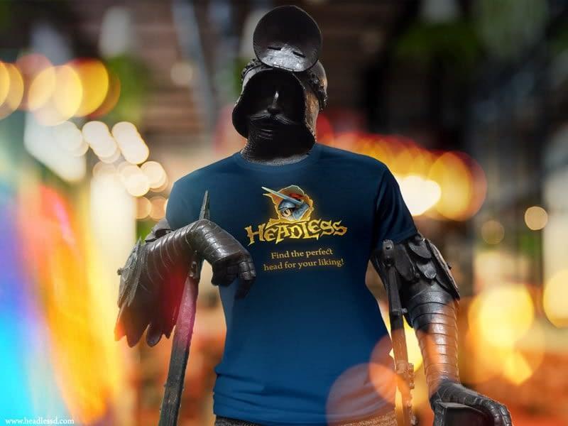 Commercial design for T-shirt for Headless D mobile game