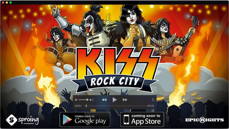 Concept art for Kiss Rock City mobile game